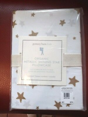pottery barn kid Metallic Gold SHINING STAR ORGANIC pillow case Cover Girl Boy