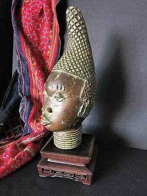 Old Kingdom of Benin African Bronze …beautiful & Unique Collection Piece