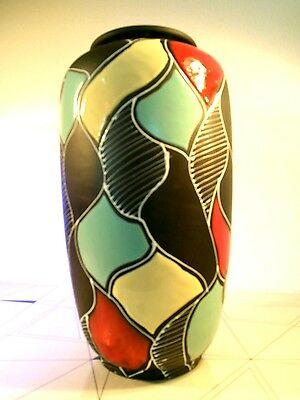 Stylische Carstens Mid Century Keramik Bodenvase 50s