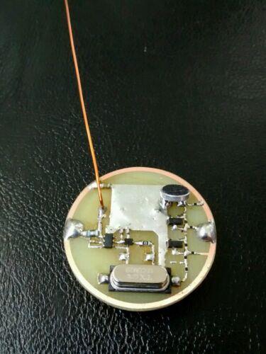 Ultra miniaturized spy microphone no gsm transmitter