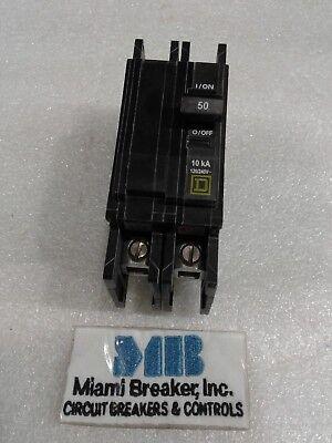 Qou250 Square D 2pole 50amp 240v Circuit Breaker New