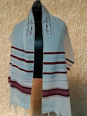 "Talit,Tallit, prayer shawl - 100% WOOL 18""X72"" - REDUCED PRICE - MADE IN ISRAEL"