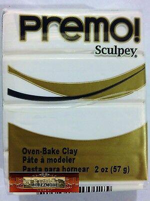 M00538 MOREZMORE Premo! Sculpey WHITE 5001 2 oz Sculpting Polymer Clay T20