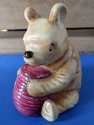 Disney Classic Winnie The Pooh Ceramic Bank - Honey Jar - Piggy Bank