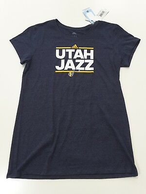 Utah Jazz Adidas Womens Cap Sleeve T Shirt Size Xl