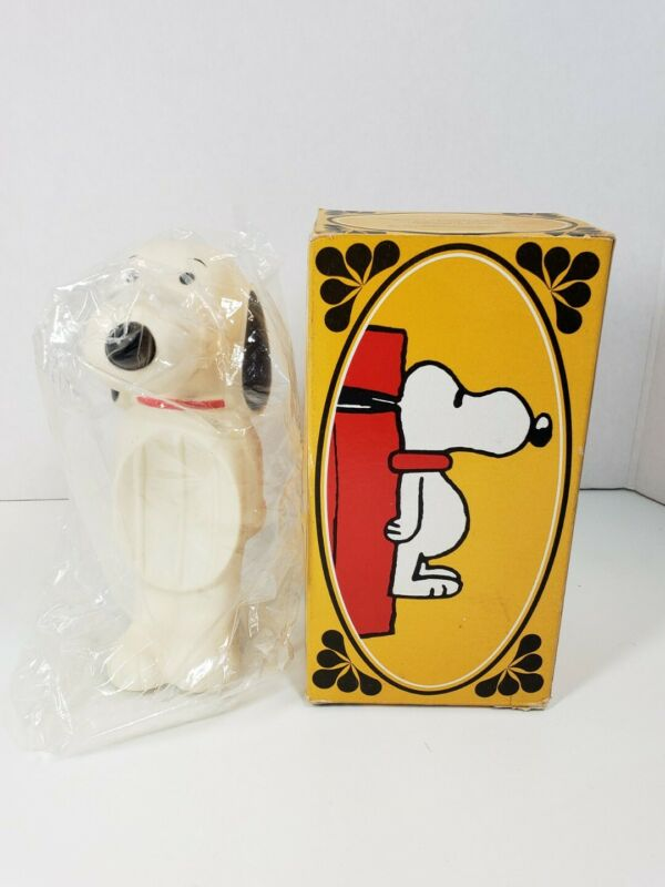 """Vintage Avon Snoopy """"Floating"""" Rubber Soap Dish 1950"""