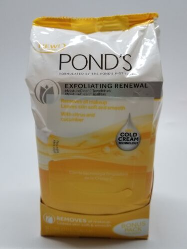 pond s moisture clean towelettes exfoliating renewal