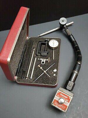 Starrett Back Plunger Dial Test Indicator 196 Set 657 Magnetic Base Machinist