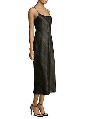 E024 NWT VINCE HAZY PLAID SILK PRINT MIDI SLIP WOMEN DRESS SIZE XS, S, M -