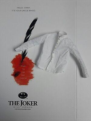 Hot Mime (1/6 Hot Toys Joker Mime Version DX14 White Shirt **US Seller**)