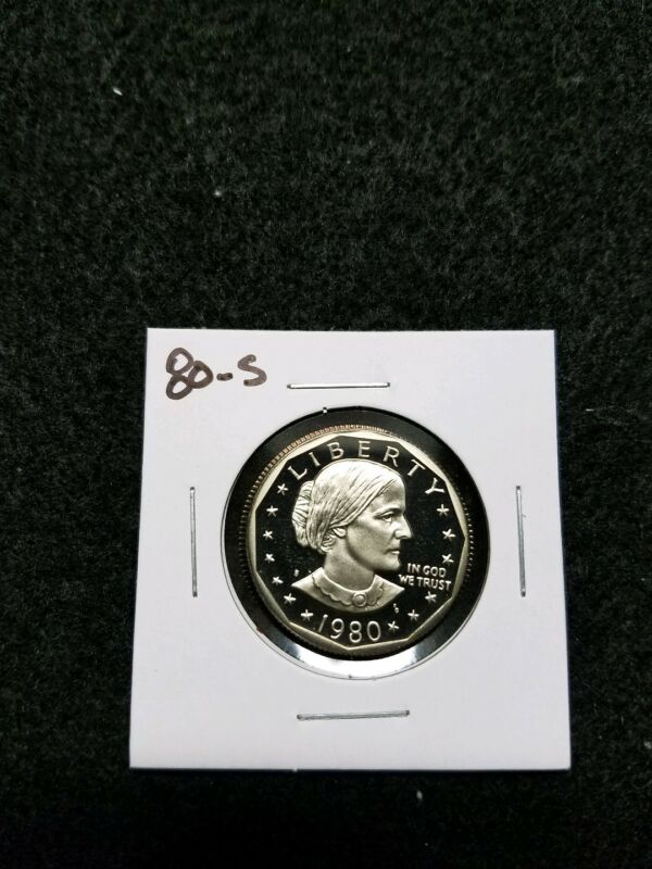 1980-S  US CAMEO PROOF SUSAN B ANTHONY DOLLAR,,,FROM US PROOF SET