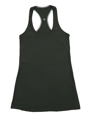 Lululemon Athletica Cool Racerback Tank Top 4 CRB Green Dark Olive Yoga Running