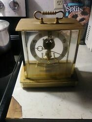 Vintage Howard Miller Clock Brass Table Clock Battery Operated, Table Top Decor