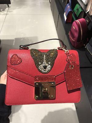 Nwt  Aldo Chiappini Red Womens Top Handle Cross Body Hangbag