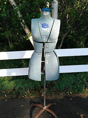 Vintage Sally Stitch Push Button Dress Form Adjustable Stand Size A Excellent