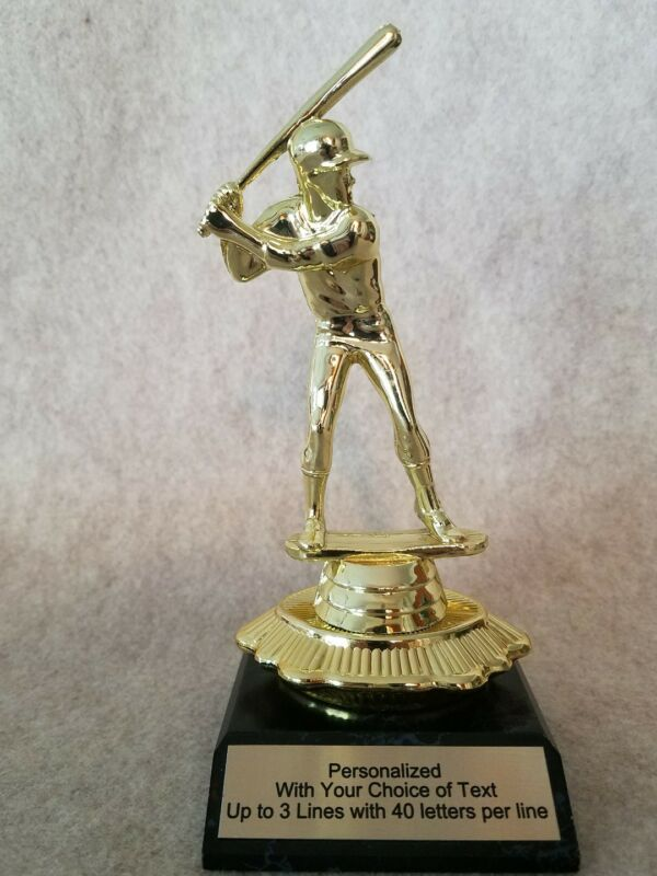 Baseball Trophy on Unique base -  Free Personalized Plaque - Trophies