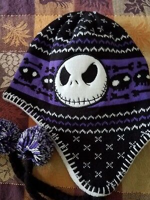 Limited Jack Skellington The Night Before Christmas Knitted Winter Hat - New - The Night Before Christmas Costumes