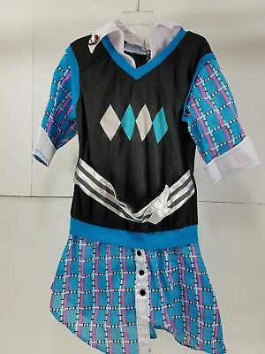 Pre Owned Girls Monster High Halloween Costume Top Dress Size M 8-10 H1