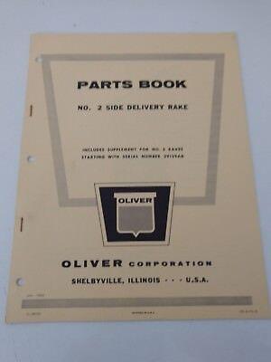 Oliver Parts Book No. 2 Side Delivery Rake Jan 1960 Manual