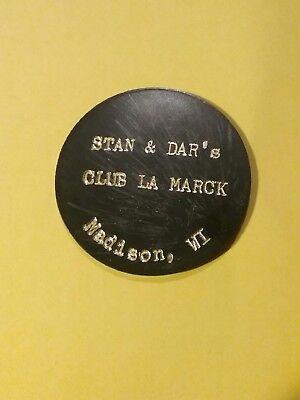 Stan & Dar's Club La Marck Madison Wisconsin WI Plastic Token Good for One Drink