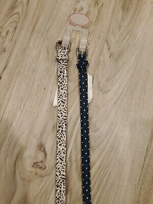 Girls Belts 2 BRAND NEW Size Small 26 Inches Animal Print Dots Themed Dress