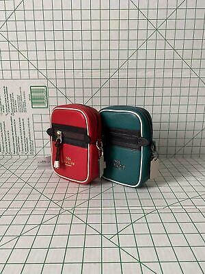 NWT Coach F83267 Vale Leather Colorblocks Phoebe Crossbody Bag