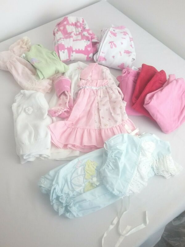 Lot Of 12 Toddlers Girls Clothing Spring Summer Everyday Size 6 -12 Months R2