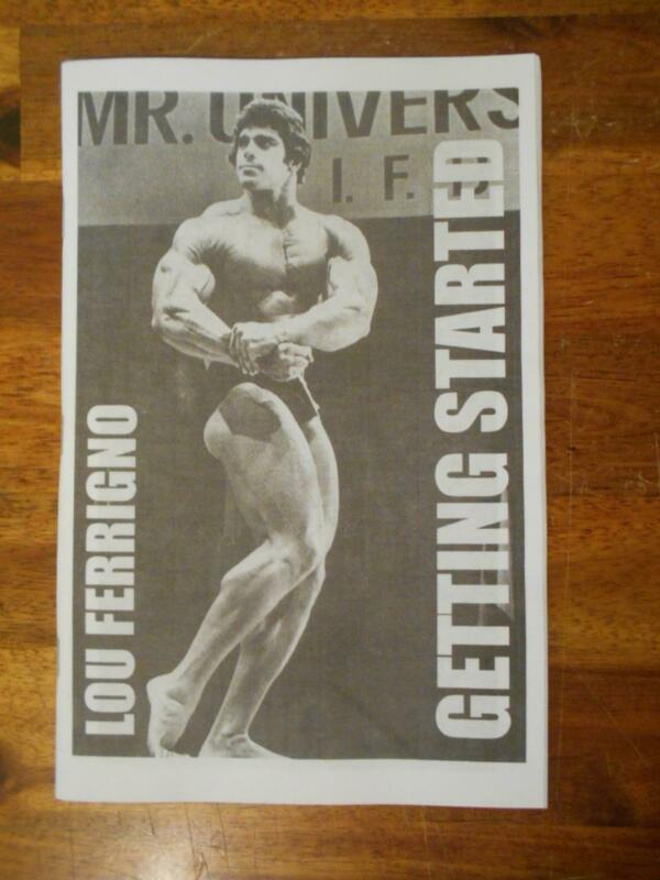 Lou Ferrigno GETTING STARTED bodybuilding muscle workout booklet 2017