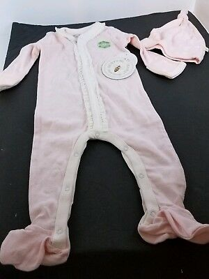 Burts Bienen Baby Mädchen Organisch Overall Hut Kostüm Größe 3 6 Monate Pink &