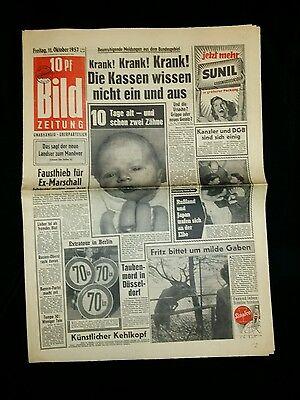 Bild Zeitung . Raumfahrt  11okt 1957    Nr.348