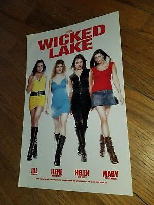Zach Passero WICKED LAKE movie poster Horror Scream Queens Hot Chicks Eve Mauro