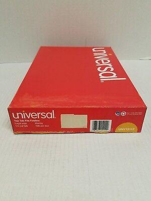 Universal Manila File Folders - Unv15112 - Box Of 100