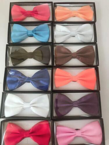 Bowtie Men Women Adjustable Formal Wedding Party Bow Tie Solid Color Tuxedo