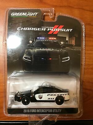 Greenlight 1/64 2016 Dodge Charger Police Show Car-READ