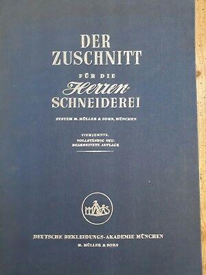 Der Zuschnitt für die Herren Schneiderei - System M. Müller & Sohn - 14. Auflage