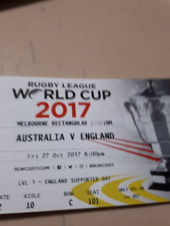 4 x Rugby world cup tickets