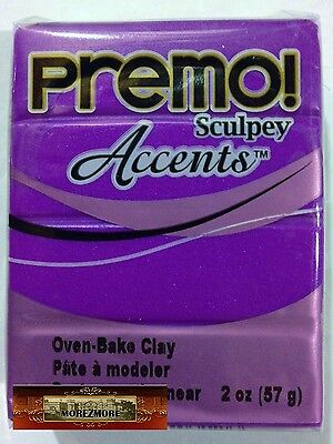 M00616 MOREZMORE Premo Accents Sculpey PURPLE PEARL 5031 2oz Polymer Clay A60