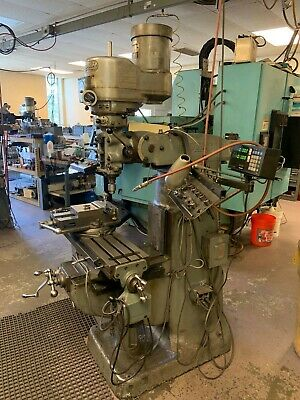 Bridgeport Vertical Mill Milling Machine 1.5 Hp Wdro 42 X 9 Table