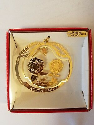 Prairie Rose Carousel Wahpeton N.D. 24K Genuine Gold Flashed Brass Ornament