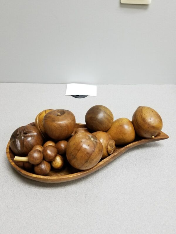 Wooden Fruit & Fruit Bowl+