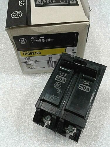 THQB2120 General Electric Circuit Breaker 2Pole 20Amp 120V NEW!!