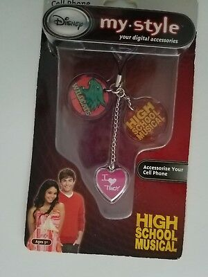 Girls Disney  High School Musical Cell phone charm dangler I Love Troy Wildcats