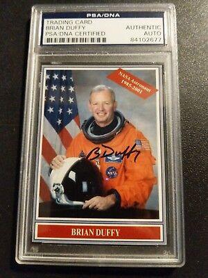 Brian Duffy PSA DNA Signed Card NASA Astronaut Rare
