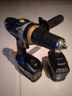 GMC 24V heavy duty hammer drill cordless 2 batteries with case