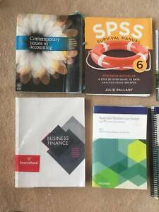 Business finance textbook and accounting textbook