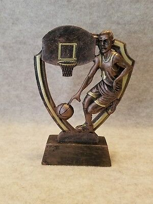 Male Basketball Shield Shaped Resin Trophy - with a free personalized plaque - Personalized Basketball