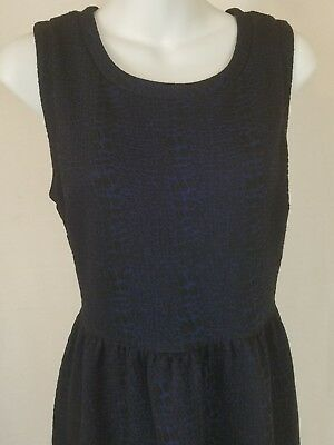 Ann Taylor LOFT Womens Dress Blue Black Size 8P Sleevless Heavy Weight Career](Size 8 Dress Weight)