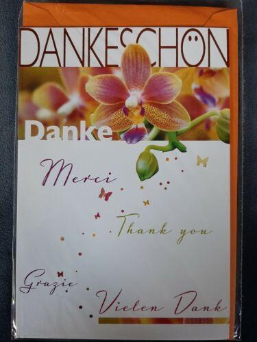 Grußkarte  Danke sagen!  Vielen  Dank!  Merci !