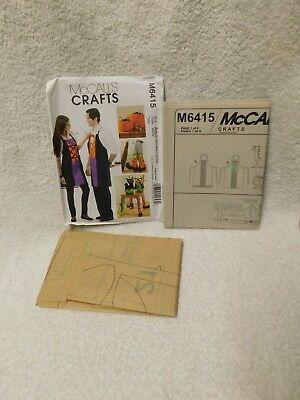 Mcalls Crafts M6415 Halloween Aprons Chair Decoartions  Pumpkin Sewing Pattern ()
