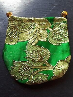 Brand new high quality green flowery hand bag coin purse! Perfect handbag gift!